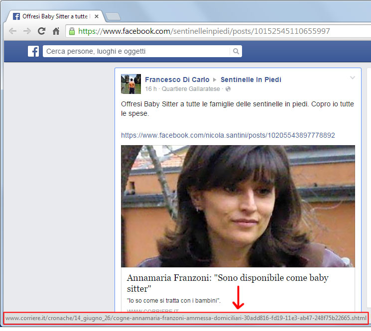 link-corriere-fake