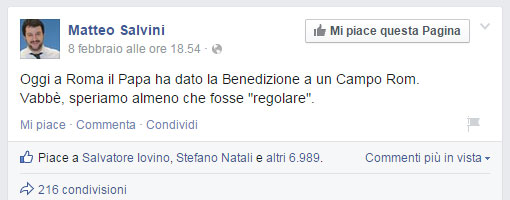 post-salvini-papa-francesco-rom-facebook