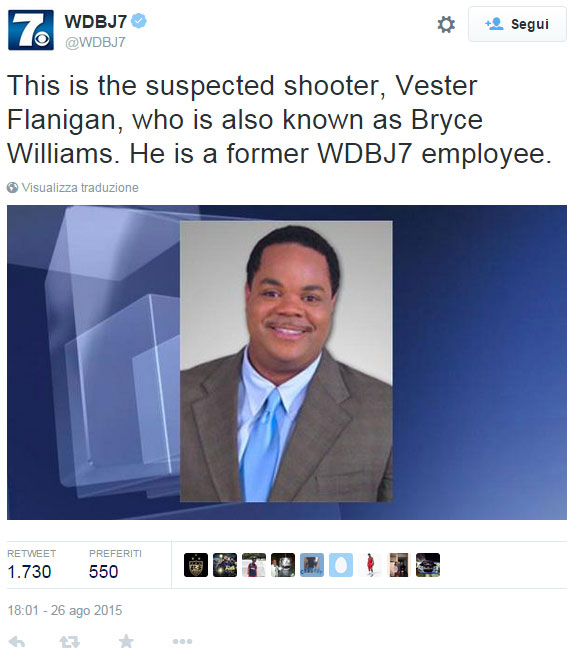This is the suspected shooter, Vester Flanigan, who is also known as Bryce Williams. He is a former WDBJ7 employee.