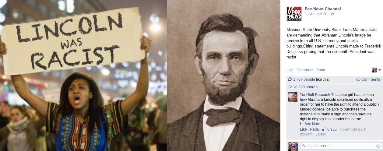 lincoln-was-racist