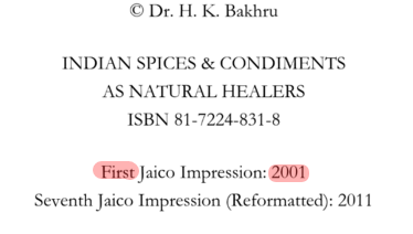 Indian Spices   Condiments as Natural Healers   Dr. H.K. Bakhru   Google Libri